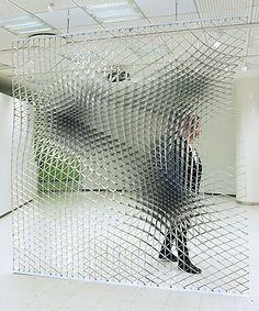 Sheer Wall, the ambivalent spatial quality. Jesse Pietilä's Sheer Wall has been… Parametric Architecture, Parametric Design, Wall Design, Design Art, Form Design, Les Gobelins, Instalation Art, Sculpture Art, Contemporary Art