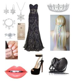 """Evil snow princess"" by sillygirl14 on Polyvore featuring Bling Jewelry, Jovani, Prada, Rebecca Minkoff, Amanda Rose Collection, Disney, Casetify, BERRICLE and Fiebiger"