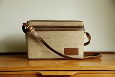 Vintage Brown Leather Camera Bag by MicroscopeTelescope on Etsy