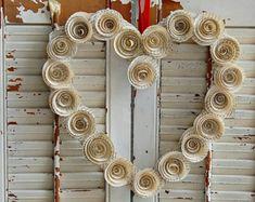 11 12 Book Wreath / Paper Rose Wreath / Book di roseflower48