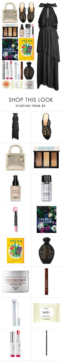 """6.017"" by katrinattack ❤ liked on Polyvore featuring Elie Saab, Charlotte Olympia, Christian Dior, Bobbi Brown Cosmetics, Kat Von D, MILK MAKEUP, Laneige, Charlotte Russe, Liz Claiborne and party"
