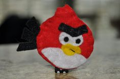 angry birds inspired handsewn felt nonslip by littlemunchkinpie, $8.00