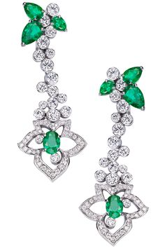 Emerald & Diamond Earrings - PIAGET