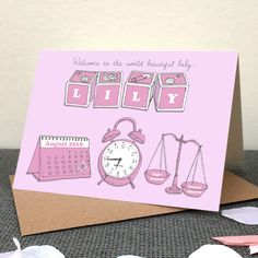 Personalised+Baby+Announcement+Cards+(Minimum+20+qty), £2.55