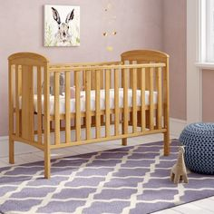 Katie Cot Grey Cot Bedding, White Cot Bed, Sleigh Cot Bed, Adjustable Base, Classic White, East Coast, Cribs, Nursery, Angel