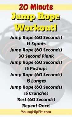 Jump rope workout that takes just 20 minutes! Burn calories fast and add lean muscle tone to your legs, abs, and upper body. Find out everything you need to know about this 20 minute jump rope workout here. #musclebuilding #burning-calories