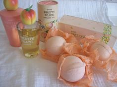 Vintage 60s Avon Pretty Peach perfume, talcum, lotion and soaps. Oh how I loved this when I was a wee girl!