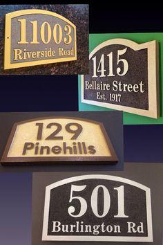 House numbers,address plaque, Sandblasted, HDU house number address plaque, house number plaque on Etsy, $75.00