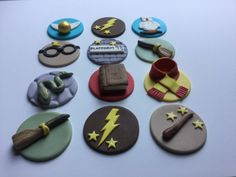 Harry Potter inspired Cupcake Toppers by PiccoliniConfections