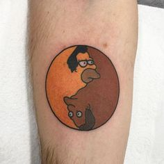 @jon_ftw It's been a very popular tattoo of the original piece by the legendary @mike_ldn Lenny/Carl Yin Yang. Phenomenal. ------------------------------------------ #thesimpsonstattoo #thesimpsons #simpsonstattoo #simpsons #tattoo #moe #inked #tat #tattyslip #simpsonsfan #homer #bart #lisa #maggie #marge #mattgroening #futurama #cartoontattoo #cartoontats #epictattoo #simpsonstat