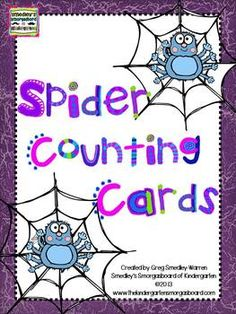 I created these counting cardsafter I found a bag full of spider rings in my classroom today!  These will make a great and quick center!  These can be used to practice counting to 10 and sequencing numbers!  Great for meeting Common Core standards!Thank you!--Greg