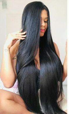 Long Dark Hair, Long Hair Cuts, Long Hair Styles, Best Long Haircuts, Long Bob Hairstyles, Hair Girls, Super Long Hair, Silky Hair, Beautiful Long Hair