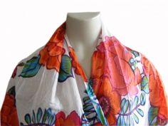 Fairtrade sjaal Klaproos uit India van katoen voor €21,95.
