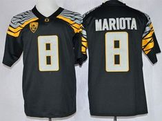 """$25.88 at """"MaryJersey"""" (maryjerseyelway@gmail.com) Ducks 8 Marcus Mariota Black Mach Speed Limited Stitched NCAA Jersey"""