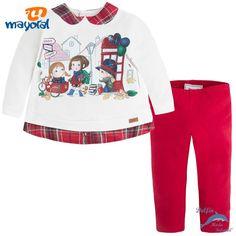 Conjunto de bebe niña MAYORAL pullover combinado con leggings