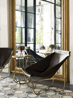 This is the perfect mix of everything and Amazing black and gold chairs