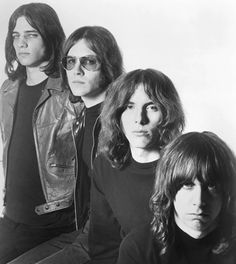 The Stooges: Scott Asheton, Ron Asheton, Dave Alexander et Iggy Pop.