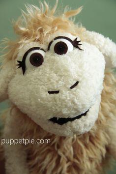 Sheep Puppet. Note eyelashes