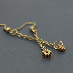 Steampunk Jewelry- Upcycled Clock Gear and Chain Earrings  $16