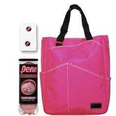 Breast Cancer Awareness Maggie Mather Bag Bundle by Various. $76.00. 1-Maggie Mather Fuchsia Pink Tote: The Maggie Mather tennis tote combines style and function. The light weight tennis tote has a large open interior with seven exterior pockets and one interior zippered pocket for easy organization. The exterior is water repellent while the inside has a zebra print lining.  1-Penn Pink Extra Duty Tennis Ball Can: Optic pink felt, championship quality tennis ball. Penn is teamin...
