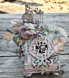 Msliberty Creations: Altered Phone Mixed Media Shimmerz DT