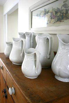 Our Cottage Style--Ironstone pitcher collection..