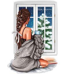 Cartoon Girl Images, Girl Cartoon, Cartoon Art, Winter Illustration, Illustration Art, Disney Princess Fashion, Queens Wallpaper, Cute Girl Wallpaper, Fashion Wall Art