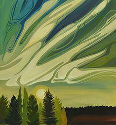 NOUVEAU 7 | E.Hawkes Woodland Art, Whimsical Art, Watercolor Landscape, Landscape Art, Watercolour, Abstract Drawings, Abstract Art, Canadian Art, Famous Art