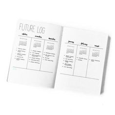 Vertical Future Log with mini months. Top 8 Bullet Journal Ideas for 2016 – Bullet Journal®