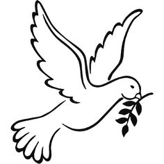 Peace dove pattern. Use the printable outline for crafts, creating ...