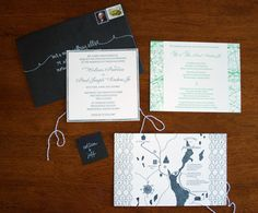 Oh So Beautiful Paper: Colleen + Paul's Illustrated Cartography-Inspired Wedding Invitations