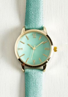 My Time has Come Watch in Turquoise From the Plus Size Fashion Community at www.VintageandCurvy.com