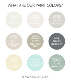 Our House's Paint Colors | www.akadesign.ca