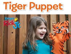 Make a tiger puppet - from the August 2015 issue of Ranger Rick Jr. magazine