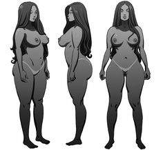 chaseconley:  My  original unused turnaround for the Masters of anatomy book a couple  years ago.  They said she was too thick, but my complaint was, if all  styles are encouraged, how can you critique my choice of body type, that  wasn't in the deal. I kind of lost interest in the project after that  interaction. As usual, don't go flagging this turnaround because it  shows nudity, please don't spoil it for the rest of the less prude crowd   #realwomenhavecurvestooyaknow #characterdesign…