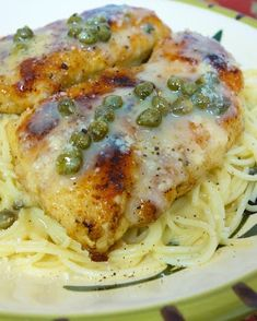Chicken in Lemon Butter Caper Sauce - skip the flour dredge and serve over zucchini noodles and it will be low carb.