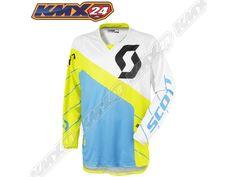 350 Race Jersey green/blue MX Shirt
