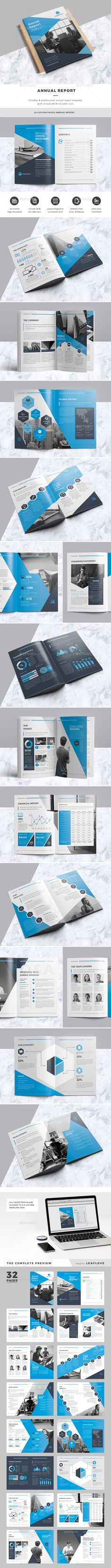 Annual Report Template InDesign INDD. Download here: https://graphicriver.net/item/annual-report/17619117?ref=ksioks