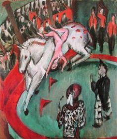 Ernst Ludwig Kirchner - Girl Circus Rider, 1912