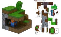 Minecraft - foldable paper craft