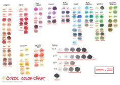 Copic Color Chart 2008