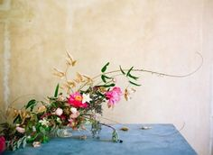 Fuchsia and Gold Centerpiece by Amy Osaba | Ali Harper Photography | See More! http://heyweddinglady.com/glamorous-geometric-wedding-inspiration-in-fuchsia-blush-and-gold/