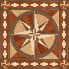 Wood Floor Medallion Stella Square 2 36