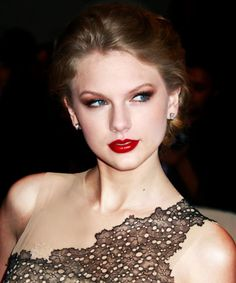 The many different ways in which Taylor Swift has worn red lipstick.