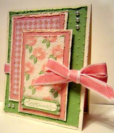 SHABBY CHIC HAPPINESS by Karen B Barber - Cards and Paper Crafts at Splitcoaststampers