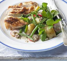 Watercress & potato salad with anchovy dressing
