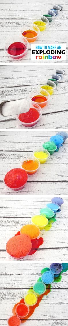 DIY Erupting rainbow is an experiment your little ones will love. What fun project for St. Patrick's Day!
