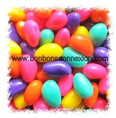 Marshmallow Easter eggs - Oeufs de guimauve  #bonbonspaques #eastercandy