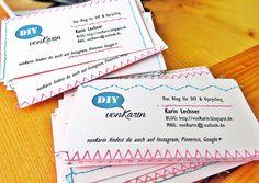 DIY ... alles vonKarin : DIY: Selbstgenähte Visitenkarten