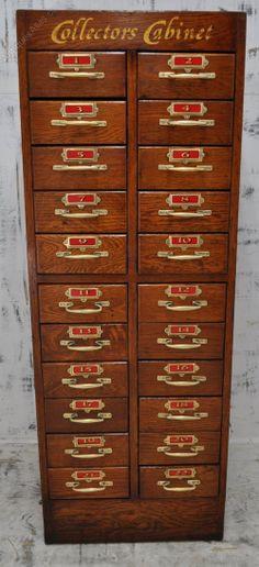 Oak Collectors Cabinet - Antiques Atlas